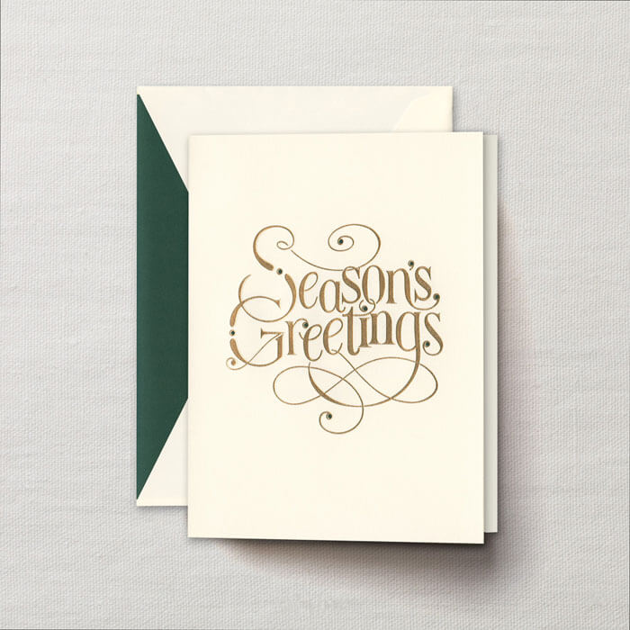 Engraved elegant script seasons greeting cards finestationery engraved elegant script seasons greeting cards m4hsunfo